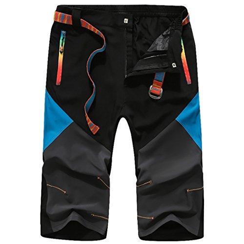 WALK-LEADER -  Pantaloni sportivi  - Basic - Maniche corte  - Uomo nero Large