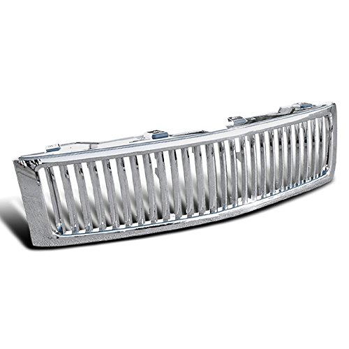 Spec-D Tuning HG-SIV07CVT Chevy Silverado 1500 Lt Ls Pick Up Chrome Vertical Front Grille (09 Chevy Silverado 2500 Grill compare prices)