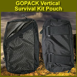 GOPACK Vertical Survival Kit Pouch, Tactical & Military, Rapid Deployment