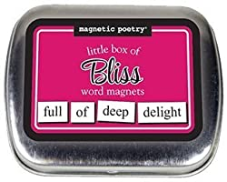 Magnetic Poetry Little Box Of Bliss Words For Refrigerator Write Poems And Letters On The Fridge