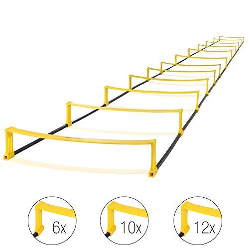 High Pulse 2-in-1 Koordinationsleiter – Vielseitiges und effektives Training der Laufkoordination und Geschwindigkeit (6, 10 oder 12 Steps)