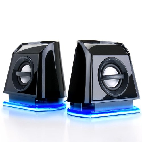 GOgroove BassPULSE 2MX USB Powered 2.0 Channel Computer Speakers- Works with Toshiba , HP , Asus , Acer , Dell , Sony , Samsung & more Laptops & Desktops!