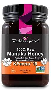 Wedderspoon 100% Raw Manuka Honey KFactor 16 500g