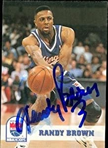 Randy Brown Autographed Hand Signed Basketball card (Sacramento Kings) 1994 Hoops... by Hall of Fame Memorabilia