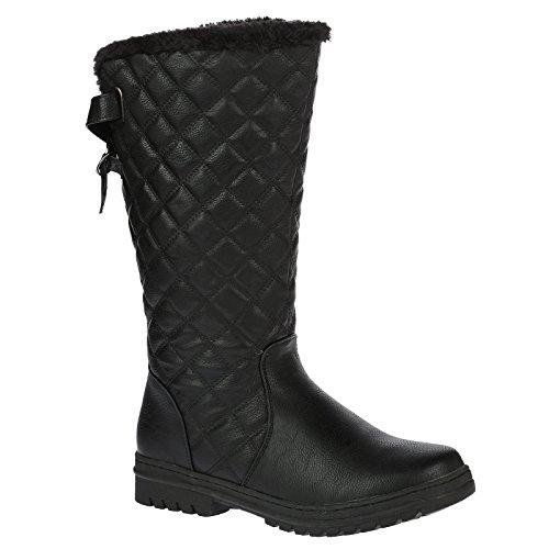 bypublicdemands2a-mujer-nina-resplandecer-zapatillas-negro-negro-37