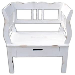 exklusive truhe owen bank landhaus truhenbank 74cm shabby chic antik weiss k che. Black Bedroom Furniture Sets. Home Design Ideas