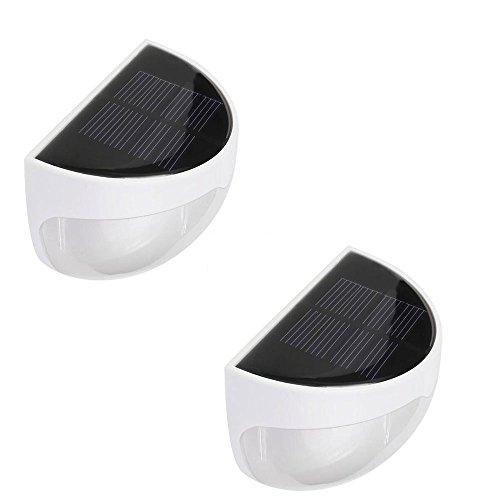 Allisandro Luci LED Bianca Da Esterno Per Giardino e Recinzioni Con Pannello Solare Impermeabile Decorazione Per La Notte 2X