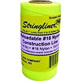 STRINGLINER COMPANY 35165 Braided Construction Line Roll, Fluorescent Yellow