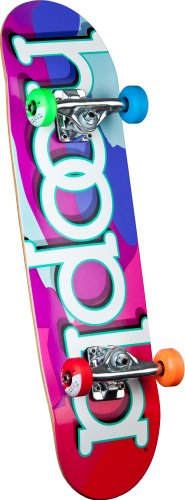 hoopla Camo Complete Skateboard, 7.5-Inch, Multi-Color