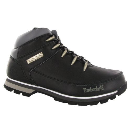 Timberland Euro Sprint Black Leather Mens Boots