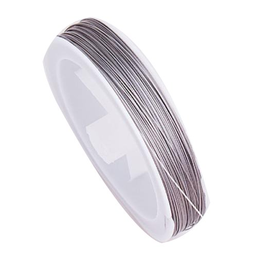 1 X Tiger Tail Beading Wire - 90m / 0.45mm / Silver