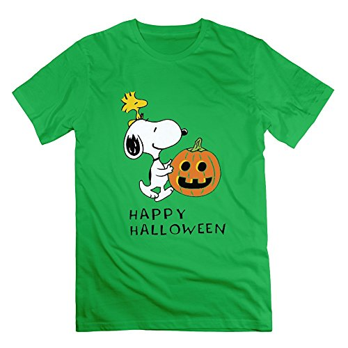 SUSS Men's Happy Halloween Snoopy Pumpkin T-shirts M ForestGreen (Buddy Holly Halloween Costume)