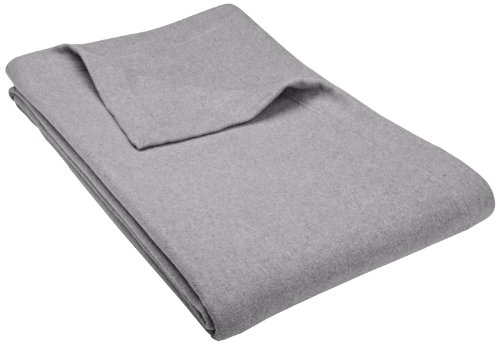Pinzon Heather Flannel Blanket, King, Dark Grey Heather