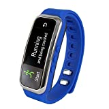 Supersonic 0.91 Fitness Wristband With Bluetooth Pedometer Calorie Counter and More-Blue