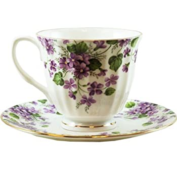 Violet Cup and Saucer
