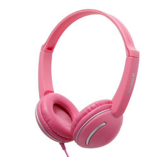 Groov-e GV897/PK Kids DJ Style Streetz Headphones with Volume Control - Pink