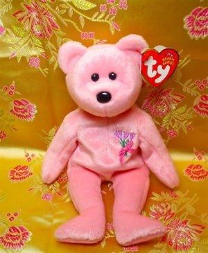 ty beanie Baby,Mum,Plush Pink Bear,2001,Sparkle Pink,Tg - 1