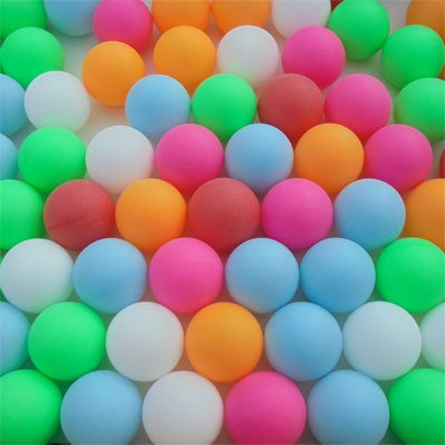 Fantastic Deal! SUPER FUN 6 COLOR 40mm PING PONG BALLS - PACK OF 72
