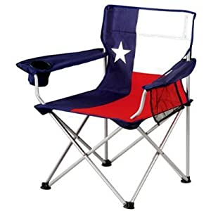"Patriotic American State Flag Oversize X-large, ""Big Boy"" Portable Folding Lawn or Camping Arm Chair with Extra Large Cup Holder from North Pole"