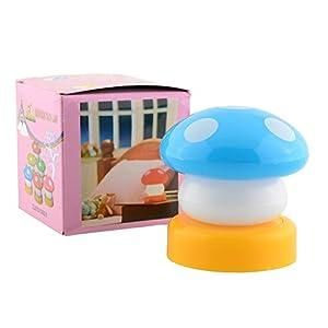 Miryo-Luz nocturna de Forma de Champiñón Mushroom niños Bebé habitación infantil lámpara iluminacion infantil luz noche 5 colores