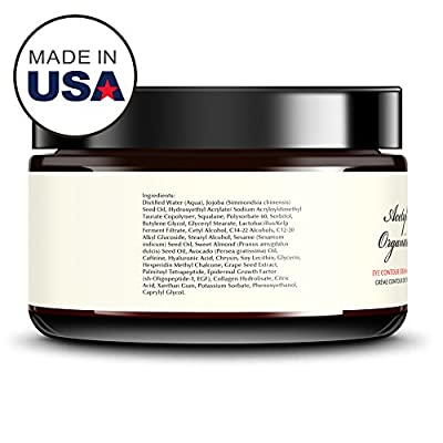 BEST Eye Cream For Dark Circles & Puffiness & Wrinkles - With EGF + Caffeine, NO FILLERS - 0.5 Ounce Super Strength - Try RISK FREE!