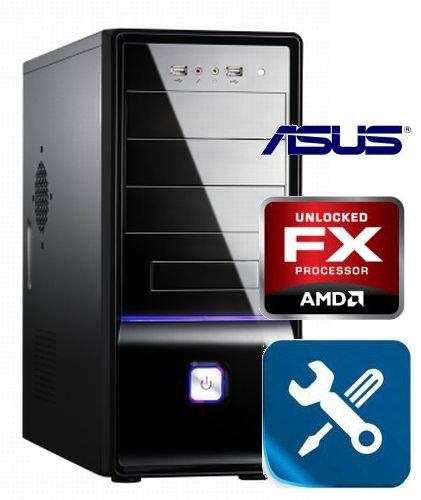 Tronics24 AufrüstPC AM3+ AMD FX 4100 Zambezi 4 x 3.6 GHz (Quadcore), 8 GB DDR3, USB 3.0, Asus mit AMD HD3000, Sound, GigabitLan, Office PC