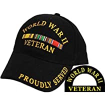 World War II Veteran Proudly Served Hat Black