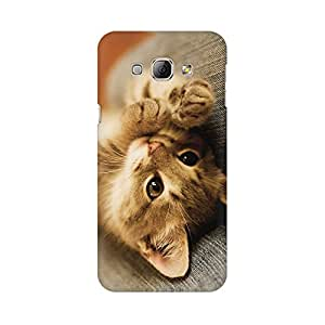 Mobicture Cute Kitten Premium Printed High Quality Polycarbonate Hard Back Case Cover for Samsung A3 With Edge to Edge Printing