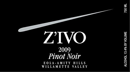 2009 Z'Ivo Willamette Valley Eola-Amity Hills Whole Cluster Pinot Noir 750 Ml