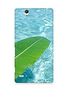 Amez designer printed 3d premium high quality back case cover for Sony Xperia C4 (Water leaf)
