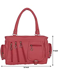 Kacey::Kacey Pink Shoulder Bag::Kacey Shoulder Bag::Plain Shoulder Bag::Women Shoulder Bag::PU Shoulder Bag::Casual... - B01I71SH0I