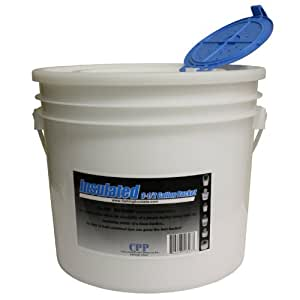 Challenge 50327 Insulated Bucket with Lid, 3.5-Gallon, White