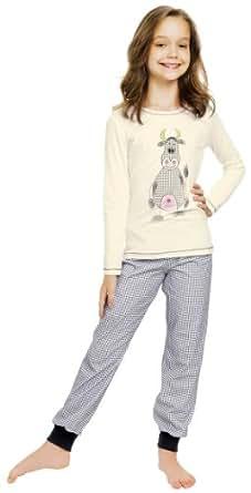 Italian Fashion IF Mädchen Schlafanzug Raspberry 0223 (Ecru, 86)