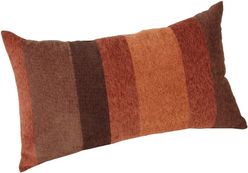 Brentwood Originals Big Stripe 14 by 24-Inch Knife Edge Pillow, Spice