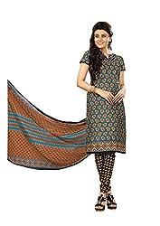 Khushbu Textile Women's Cotton Unstitched Salwar Suit (9019_Multicolor_Free Size)