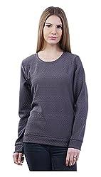 MERCH21 Women's Regular Fit Top (MERCH-328-ANTHRA, Grey, L)