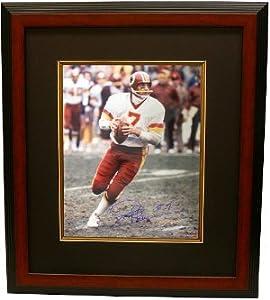 Joe Theismann signed Washington Redskins 16x20 Photo Custom Framed by Athlon Sports Collectibles