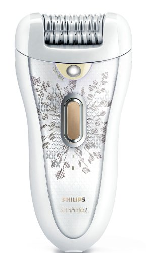 Philips HP6576 Satin Perfect Body and Face Rechargeable Epilator with Luxury Bag, Light Tweezers and Three Attachment Heads