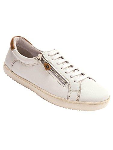 Balsamik - Sneakers pelle con cerniera e lacci - - Size : 37 - Colour : Bianco