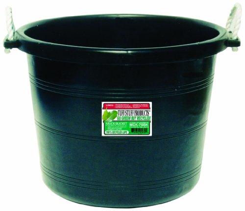 Tuff Stuff Products Mck70bk Muck Bucket 70 Quart Black