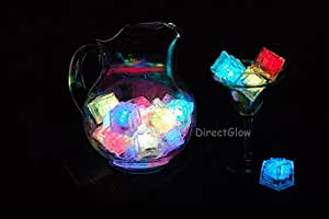 Six (6) Litecubes® Flashing LED Multi-Color Freezable Ice Cubes / Rocks