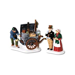 #!Cheap Department 56 Dickens Village The Coffee Stall, Set of 2