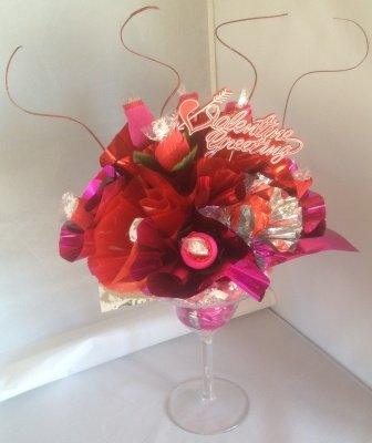 Candy Bouquet Margarita Valentine Gift Arrangement