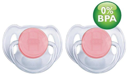 Avent Translucent Toddler Pacifier 6-18 Months 2-Pack, Red - 1