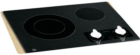 GE CleanDesign JP256WMWW 21 Smoothtop Electric Cooktop - Black Surface with White Accents