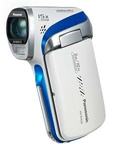Panasonic HX-WA20EG-W HD-Camcorder (16 Megapixel, 5-fach opt. Zoom, bis zu 3m wasserdicht, staubgeschützt, 28mm Weitwinkel). weiß
