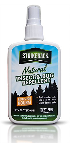 Extreme Natural Insect & Bug Repellent By Strikeback- Deet Free, Essential Oil Off Bug Spray- Repel Mosquitoes, Gnats, Ticks & Other Biting Pests For Hours- Refreshing Smell & Soft Skin Feel- 4 ounce (Buzz Aroma compare prices)