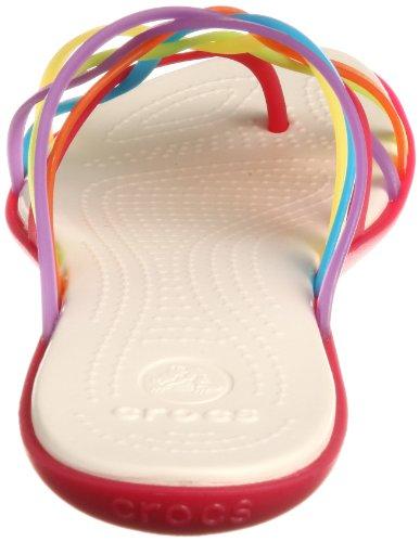 crocs Women's Huarache Sandal,Multi/Geranium,7 M US