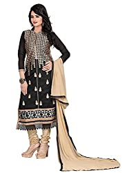 Manthan Black Embroidered Un-Stitched Suit MNTTMNBLACK