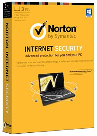 Norton Internet Security 2013 - 3 Computers, 1 Year Subscription (PC)
